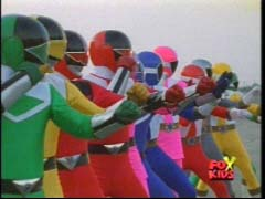 All twelve Rangers stand together