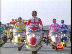 Time Force escorts Lightspeed Rescue back to Mariner Bay